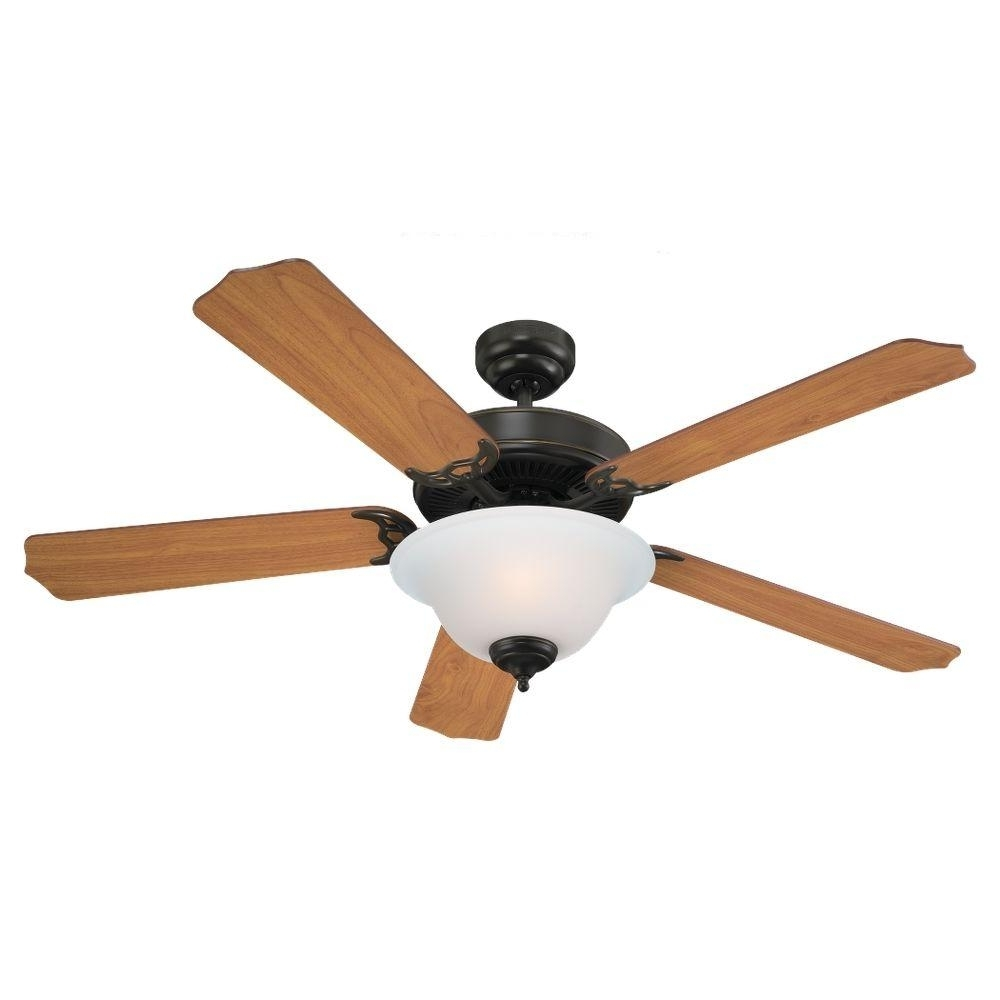 Quality Outdoor Ceiling Fans Regarding Fashionable Sea Gull Lighting Quality Max Plus 52 In. Heirloom Bronze Indoor (Gallery 5 of 20)