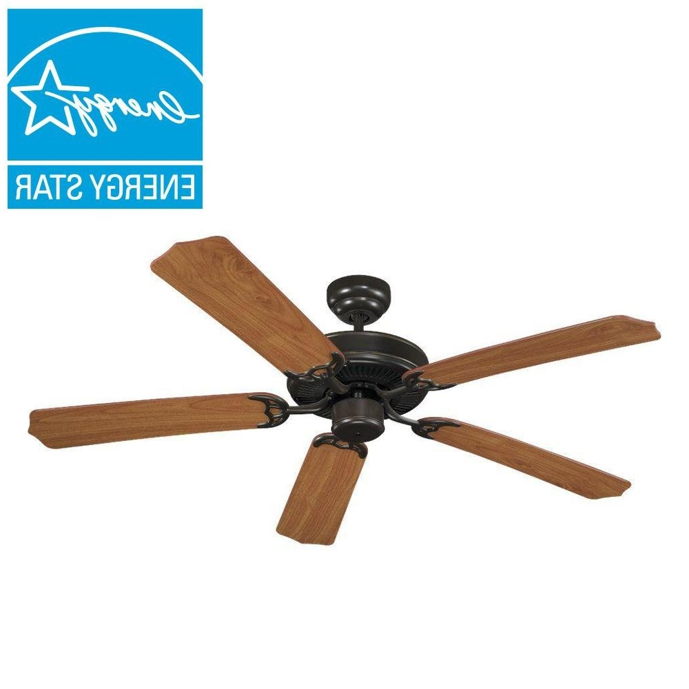 Quality Outdoor Ceiling Fans Within Most Recently Released Sea Gull Lighting Quality Max Collection 52 In. Heirloom Bronze 5 (Gallery 8 of 20)