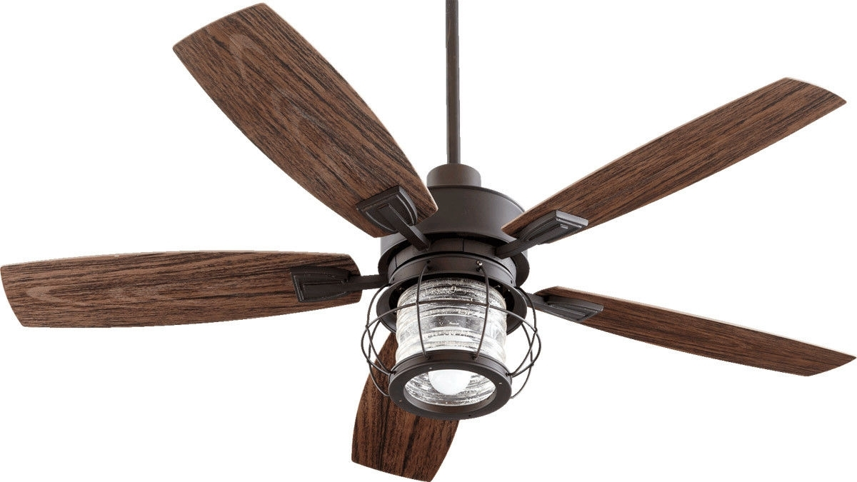 Quorum International 13525 86 Galveston 1 Light Outdoor Ceiling Fans Regarding Most Recently Released Quorum Outdoor Ceiling Fans (Gallery 1 of 20)