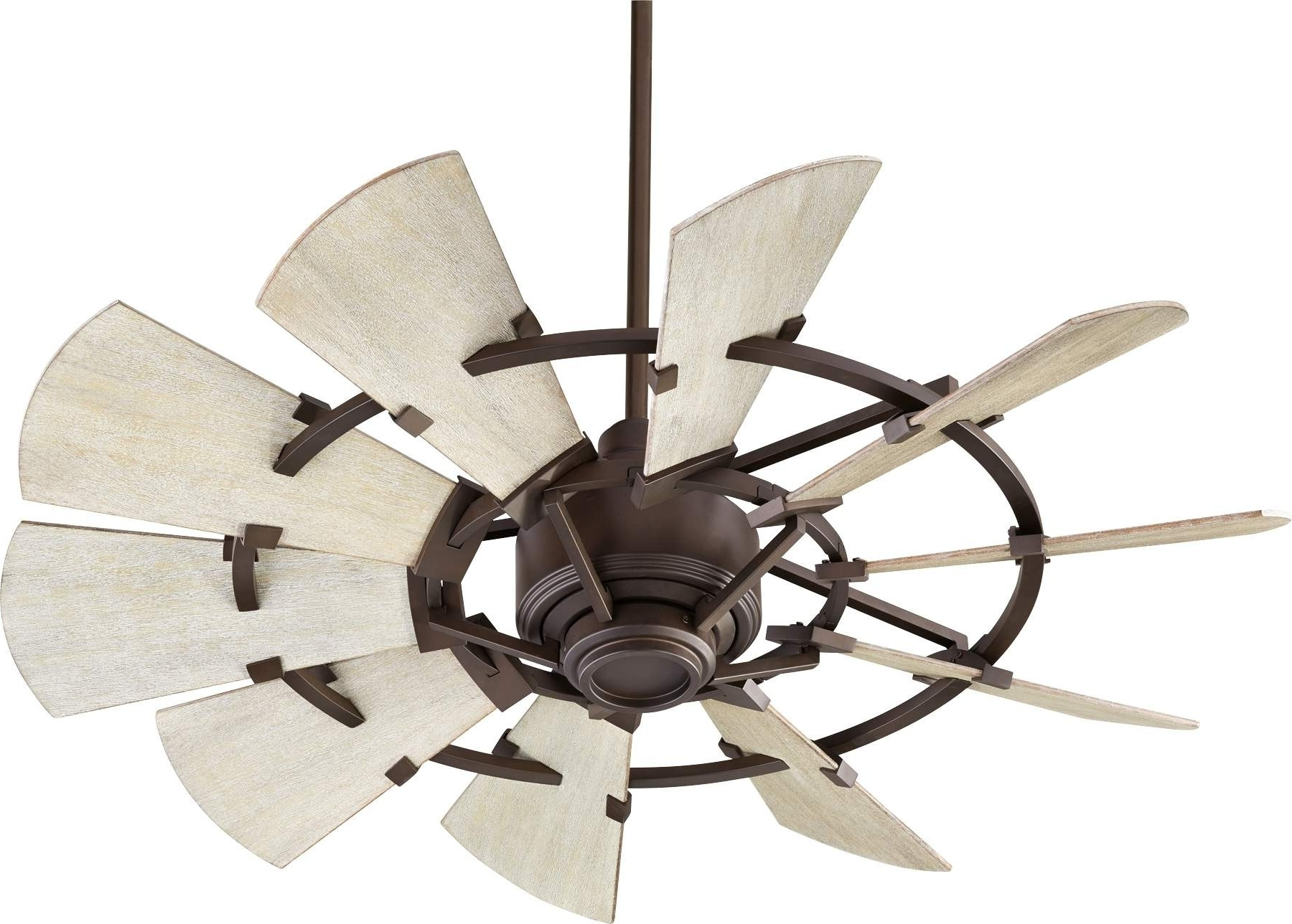 Quorum Windmill Ceiling Fan Model 194410 86 In Oiled Bronze In Most Recent Outdoor Windmill Ceiling Fans With Light (View 3 of 20)
