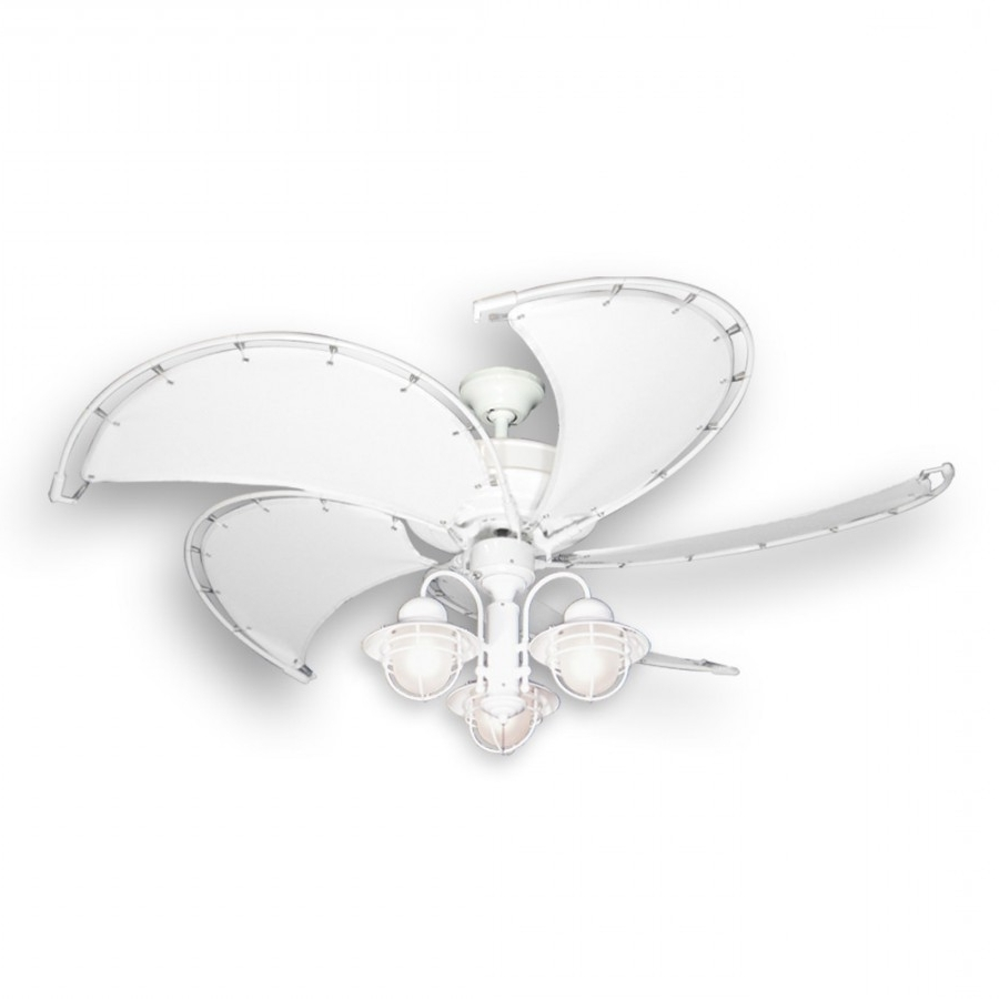 Raindance Ceiling Fan With Sail Cloth Blades Throughout Latest Coastal Outdoor Ceiling Fans (Gallery 15 of 20)