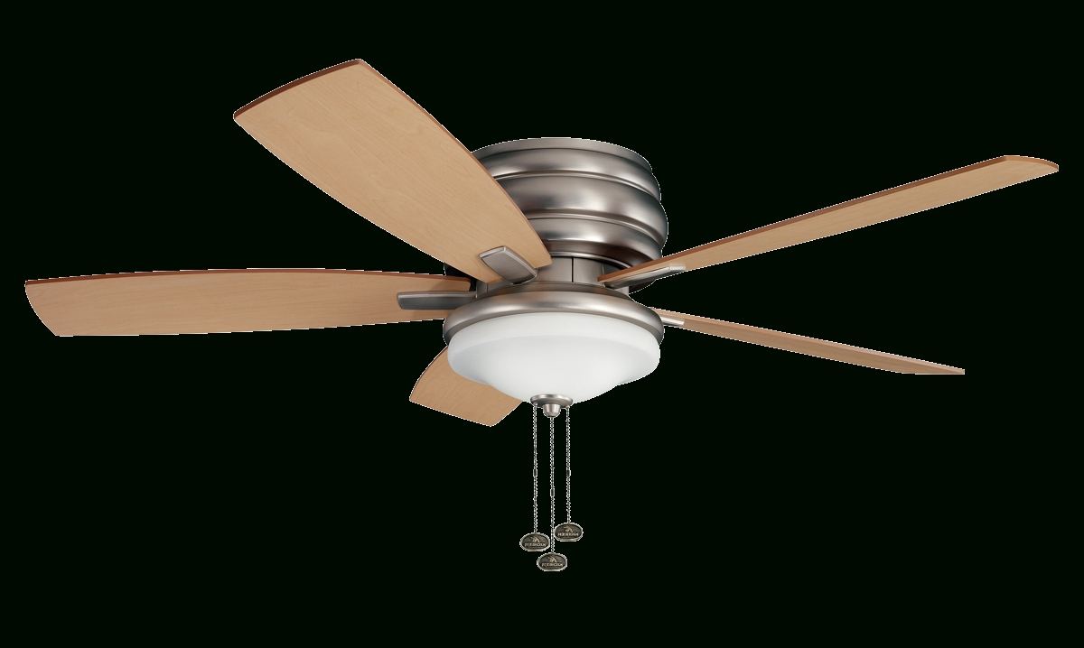"""Recent 52"""" Windham Fan With Brushed Nickel Finish Intended For Kichler Outdoor Ceiling Fans With Lights (Gallery 3 of 20)"""