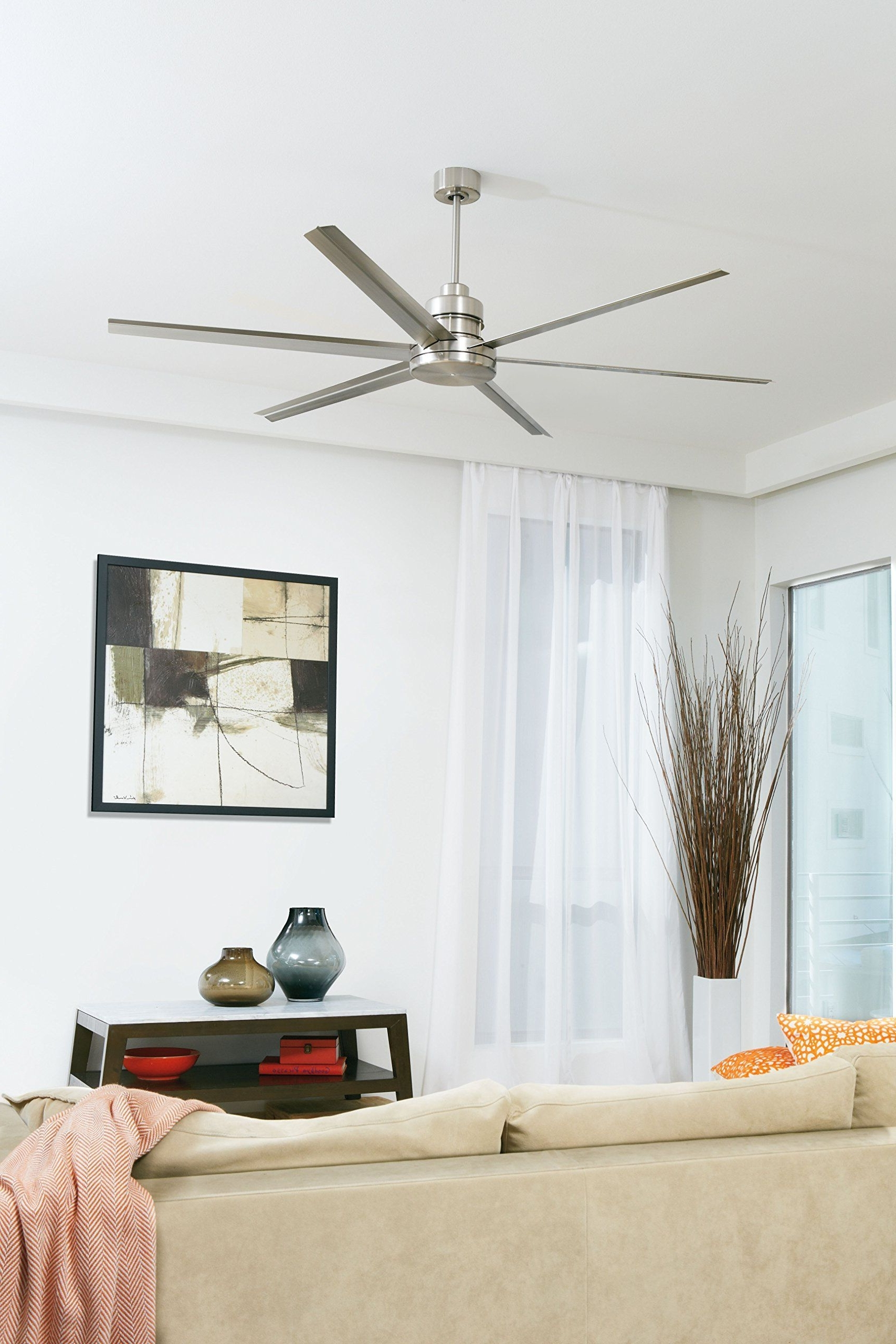 Recent 72 Inch Outdoor Ceiling Fans With Light With Regard To Craftmade Mnd72Esp6 Mondo 72 Inch Espresso Six Blade Metal Outdoor (View 16 of 20)