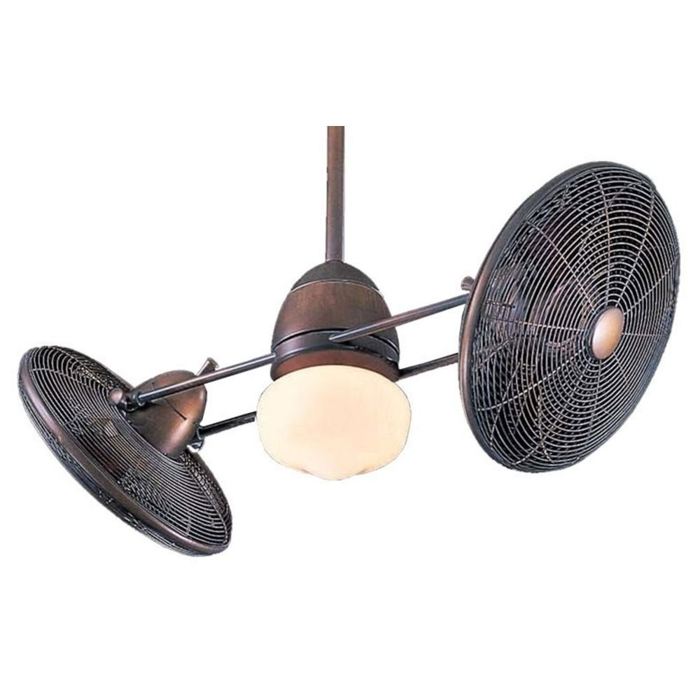 Recent Ceiling Fan: Awesome Gyro Ceiling Fan Design Antique Gyro Ceiling Intended For Dual Outdoor Ceiling Fans With Lights (View 17 of 20)