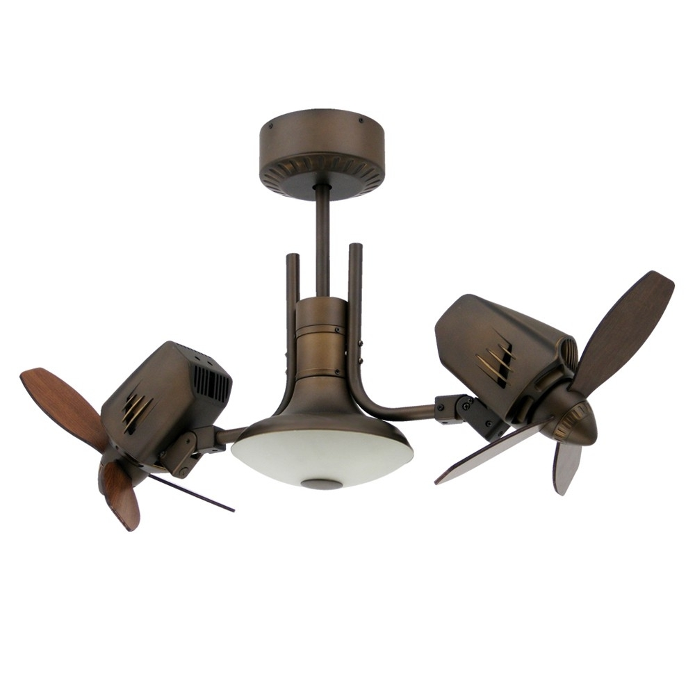 Recent Dual Ceiling Fans / Double Headed Ceiling Fan – Twin Motors With Vertical Outdoor Ceiling Fans (Gallery 4 of 20)