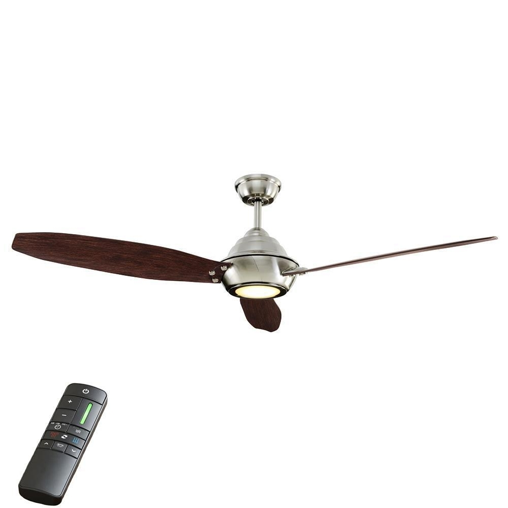 Recent Hurricane Outdoor Ceiling Fans Within Home Decorators Collection Aero Breeze 60 In. Integrated Led Indoor (Gallery 1 of 20)