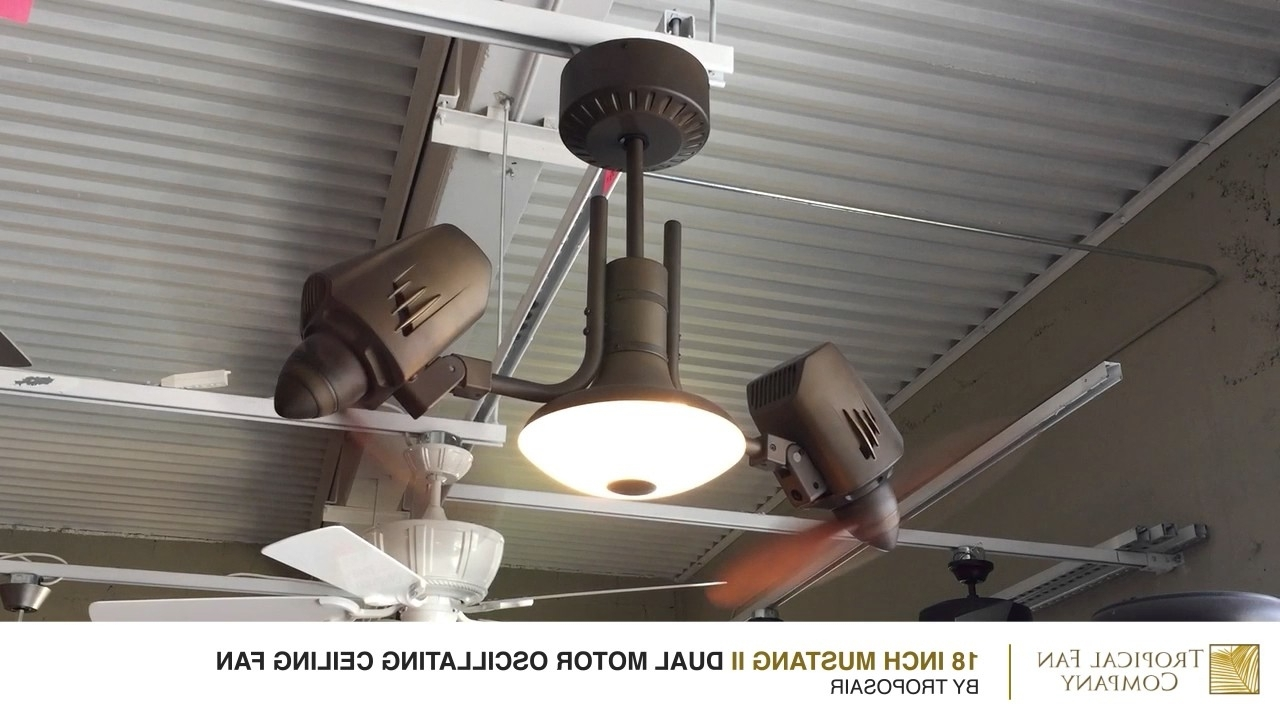 Recent Mustang Ii Dual Motor Oscillating Ceiling Fantroposair – Youtube With Outdoor Double Oscillating Ceiling Fans (View 18 of 20)