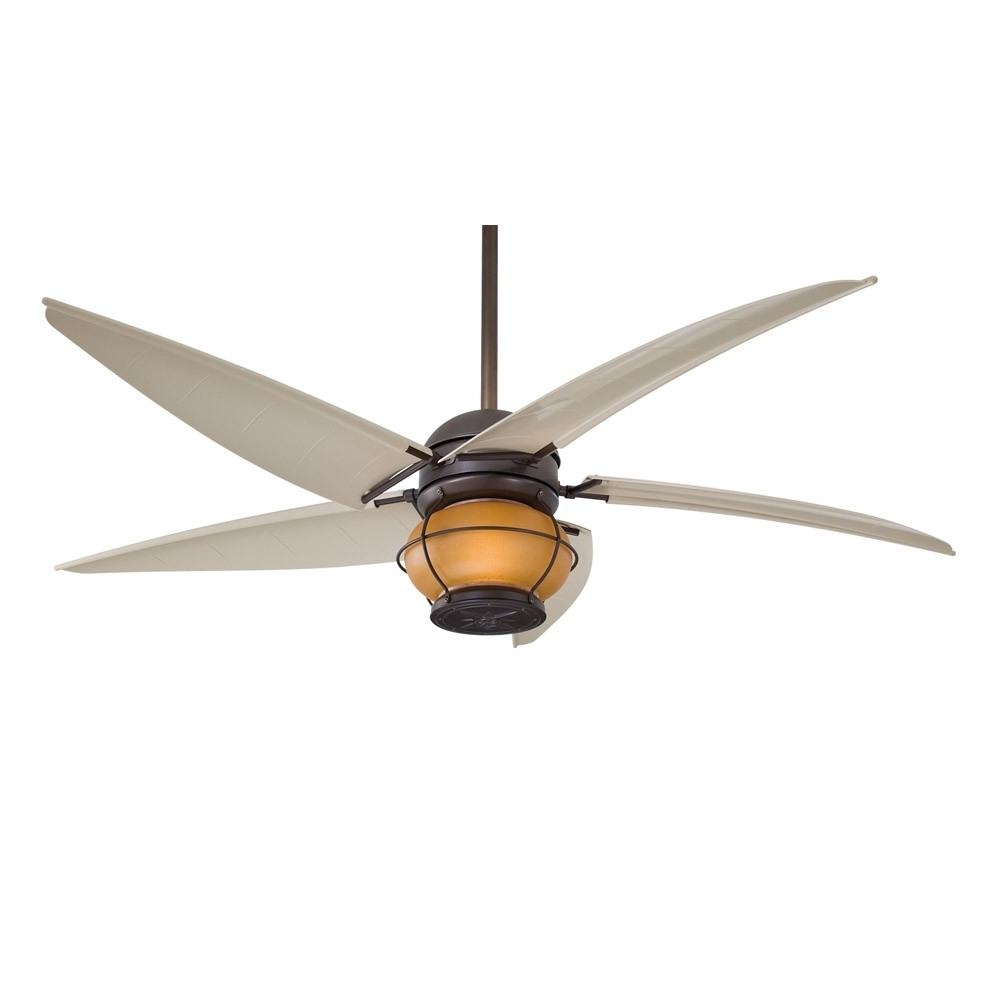 "Recent Nautical Outdoor Ceiling Fans With Lights Pertaining To Minka Aire Magellan F579 L Orb 60"" Outdoor Ceiling Fan With Light (View 16 of 20)"