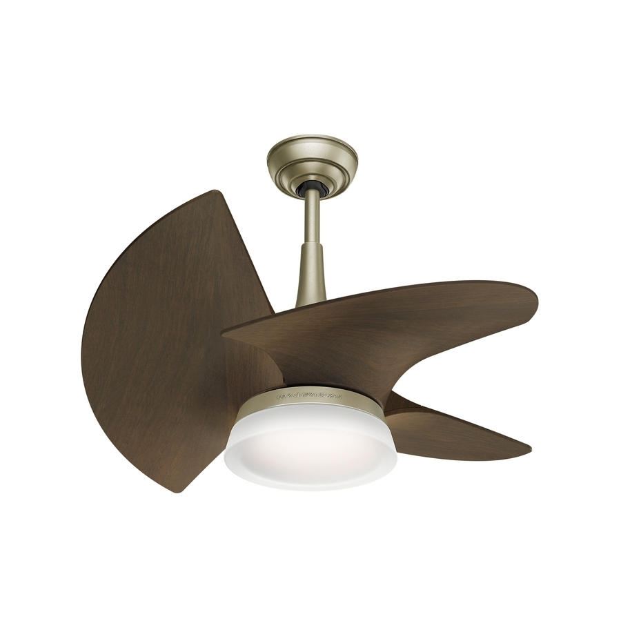 Recent Shop Casablanca Orchid Led 30 In Pewter Revival Led Indoor/outdoor Intended For Mini Outdoor Ceiling Fans With Lights (Gallery 9 of 20)