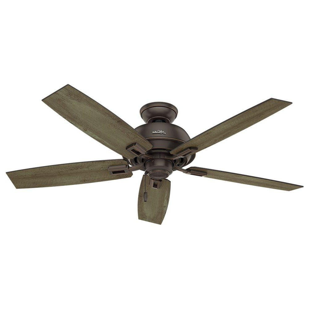 Rust Proof Outdoor Ceiling Fans With Most Recently Released Hunter Caicos 52 In. Indoor/outdoor New Bronze Wet Rated Ceiling Fan (Gallery 1 of 20)