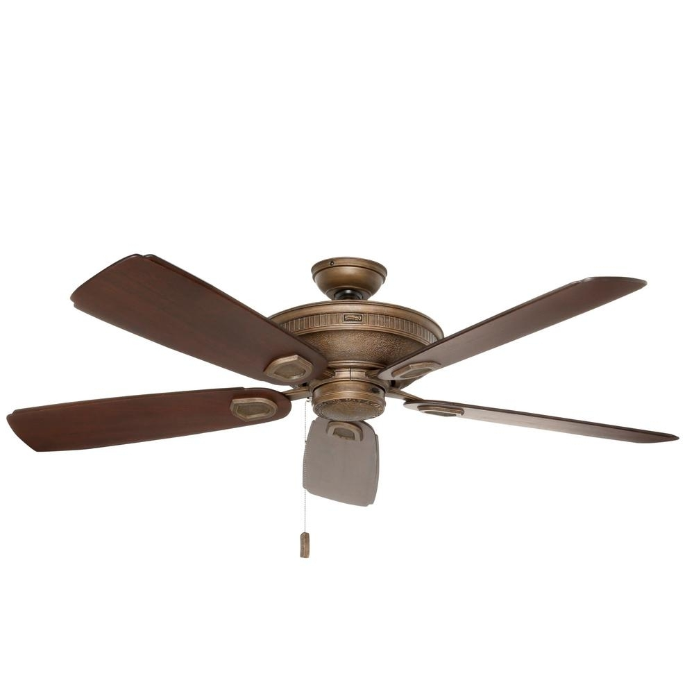 Rustic – Outdoor – Ceiling Fans – Lighting – The Home Depot Within 2018 Rustic Outdoor Ceiling Fans (Gallery 7 of 20)