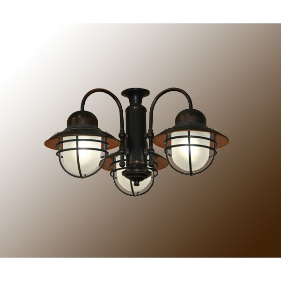 Rustic Outdoor Ceiling Fans With Lights Intended For Recent 362 Nautical Outdoor Ceiling Fan Light (View 13 of 20)