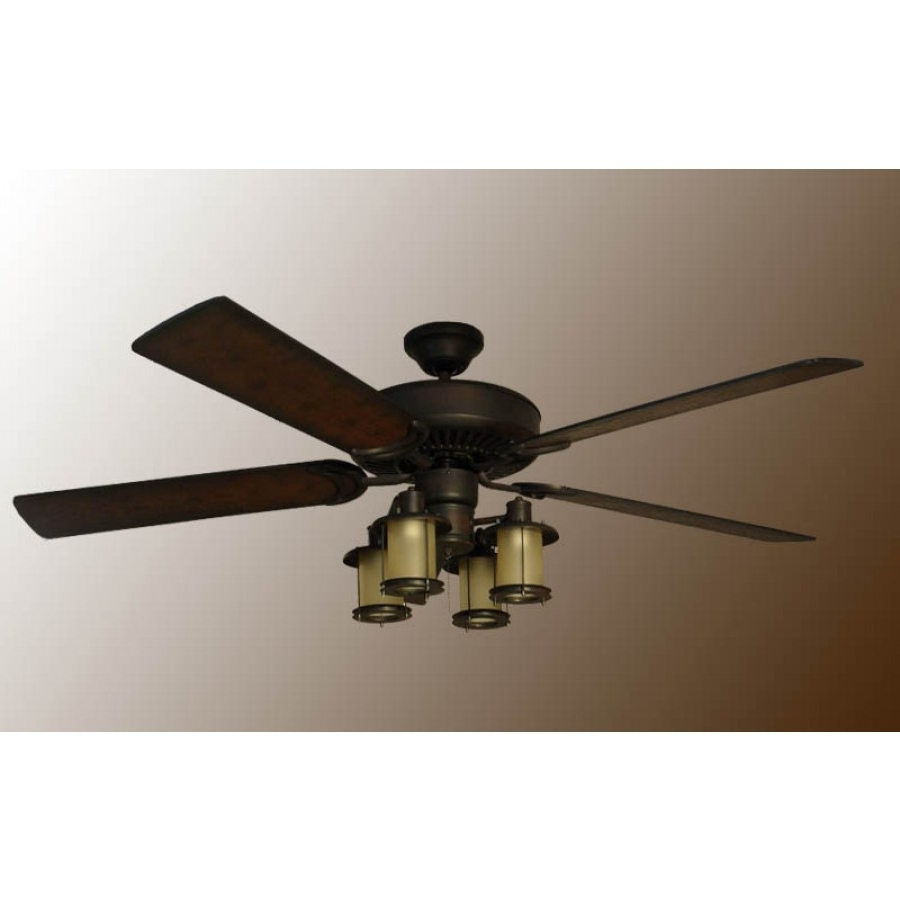 Rustic Outdoor Ceiling Fans With Regard To Current Rustic Ceiling Fan, Mission Ceiling Fan (View 14 of 20)