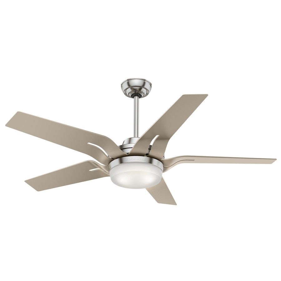 Shop Casablanca Correne Led 56 In Brushed Nickel Led Indoor Ceiling Regarding Most Recently Released Casablanca Outdoor Ceiling Fans With Lights (View 17 of 20)