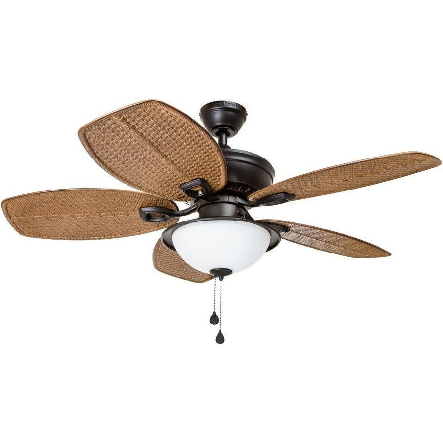 Shop Harbor Breeze Cedar Shoals 44 In Oil Rubbed Bronze Indoor In Newest Harbor Breeze Outdoor Ceiling Fans With Lights (View 2 of 20)
