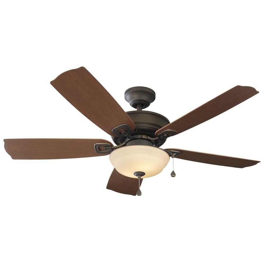 Shop Harbor Breeze Echolake 52 In Oil Rubbed Bronze Indoor/outdoor Regarding Most Recent Outdoor Ceiling Fans And Lights (View 7 of 20)