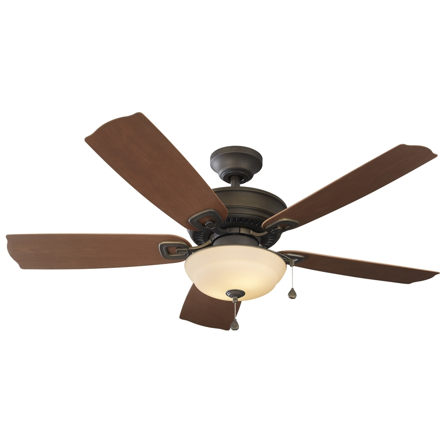 Shop Harbor Breeze Echolake 52 In Oil Rubbed Bronze Indoor/outdoor Throughout Current Exterior Ceiling Fans With Lights (View 18 of 20)
