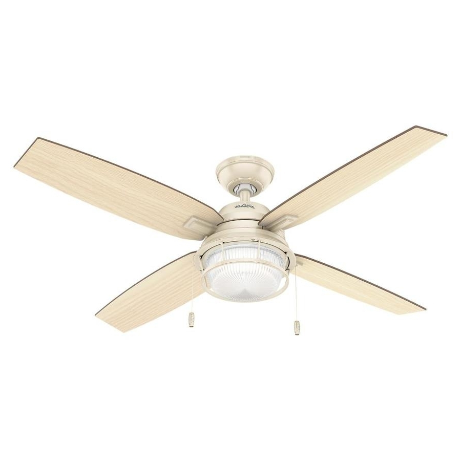 Shop Hunter 52 In Autumn Creme Indoor/outdoor Ceiling Fan With Light Intended For Most Current Hunter Outdoor Ceiling Fans With Lights (View 17 of 20)