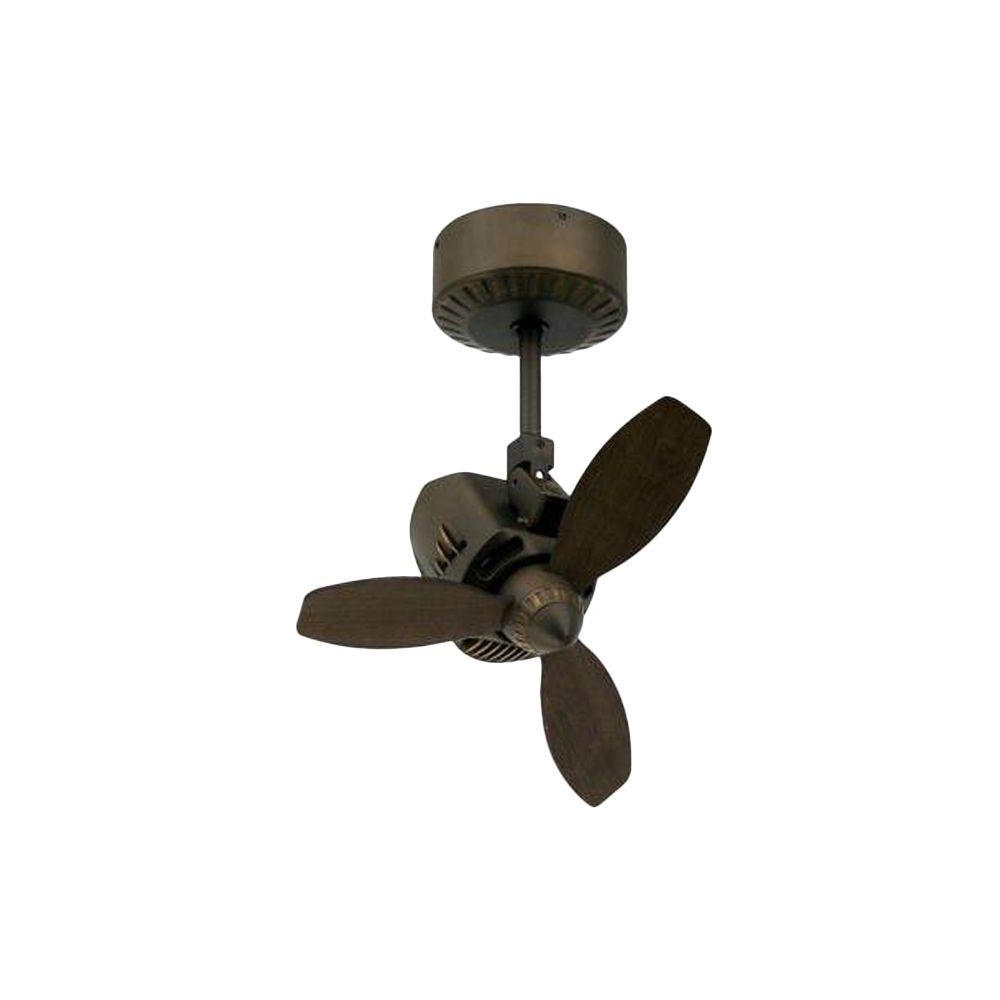 Small Outdoor Ceiling Fans With Lights In Latest Troposair Mustang 18 In (View 10 of 20)