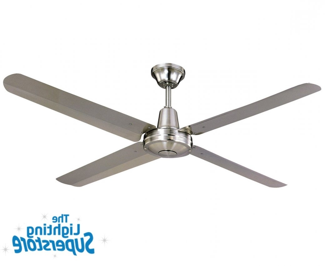 """Stainless Steel Outdoor Ceiling Fans With Light With Latest 56"""" Typhoon 316 Stainless Steel – Outdoor Ceiling Fans (View 4 of 20)"""