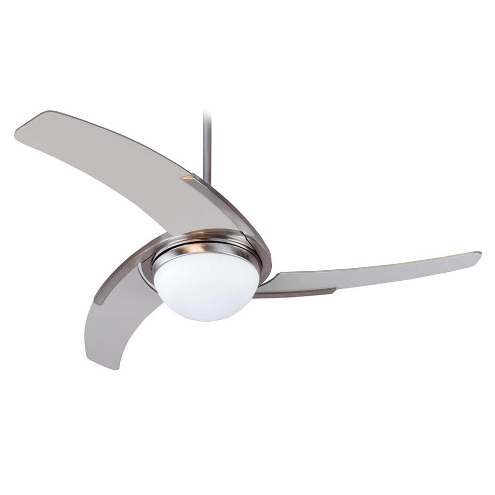Stainless Steel Outdoor Ceiling Fans With Light With Regard To Famous Juna Ceiling Fancraftmade Ju54Ss3 Stainless Steel Finish With (View 16 of 20)