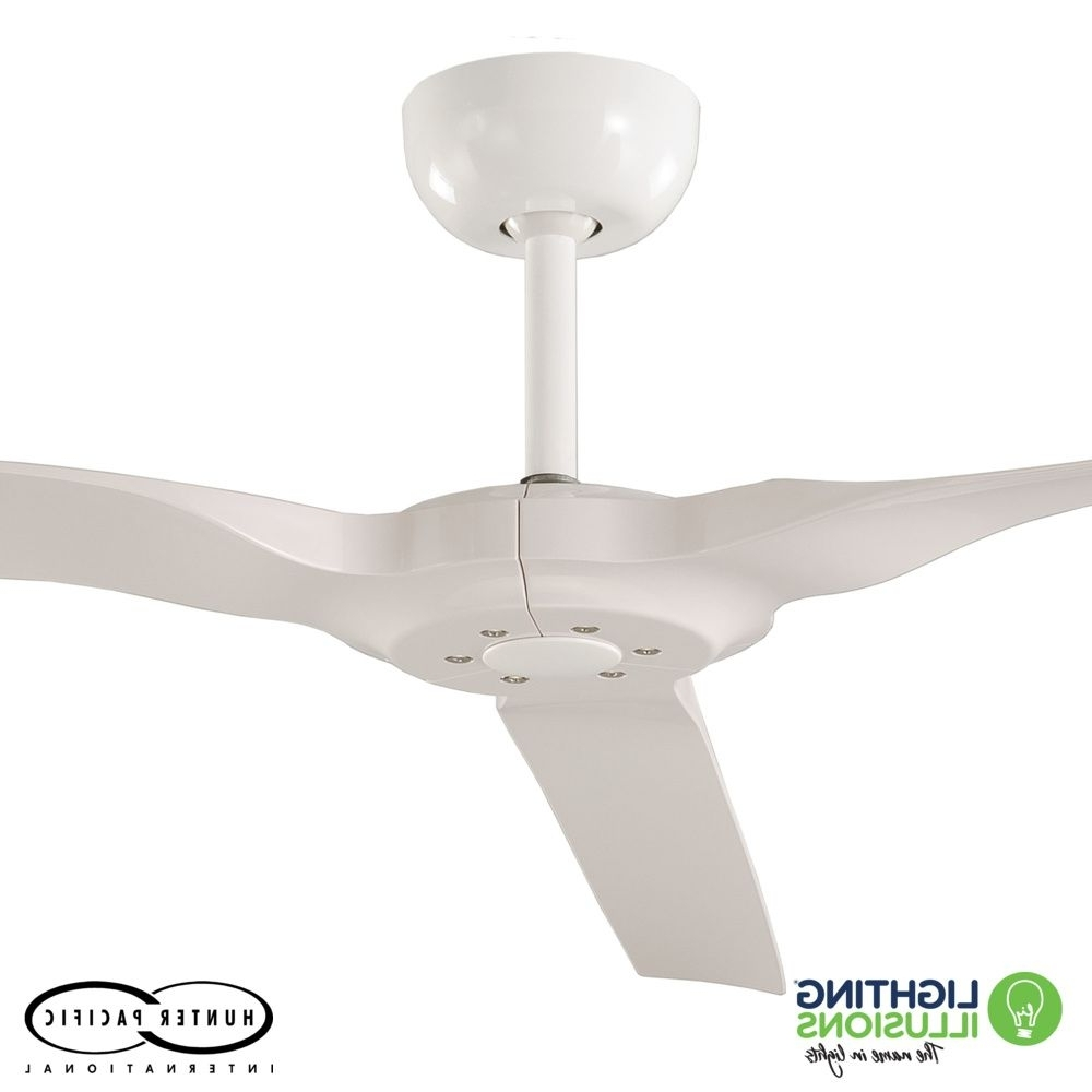 """Sunshine Coast Outdoor Ceiling Fans In Newest White Radical 2 Indoor/outdoor 60"""" 3 Blade Dc Ceiling Fan With (View 16 of 20)"""