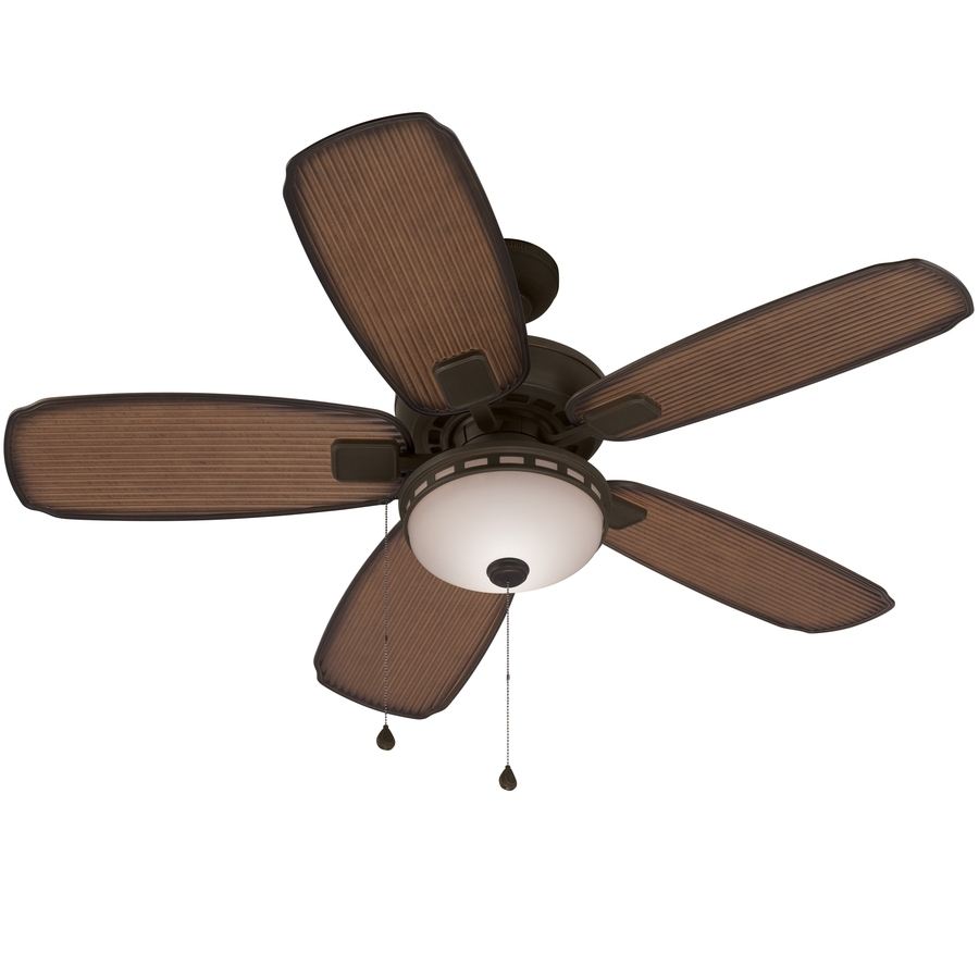 Trendy Harbor Breeze Outdoor Ceiling Fans With Lights Regarding Shop Harbor Breeze Oyster Cove 52 In Aged Bronze Downrod Or Close (View 1 of 20)