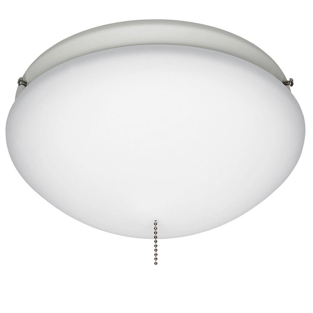 Trendy Hunter White Outdoor Ceiling Fan Globe Light 28388 – The Home Depot Throughout Outdoor Ceiling Fans With Light Globes (View 7 of 20)