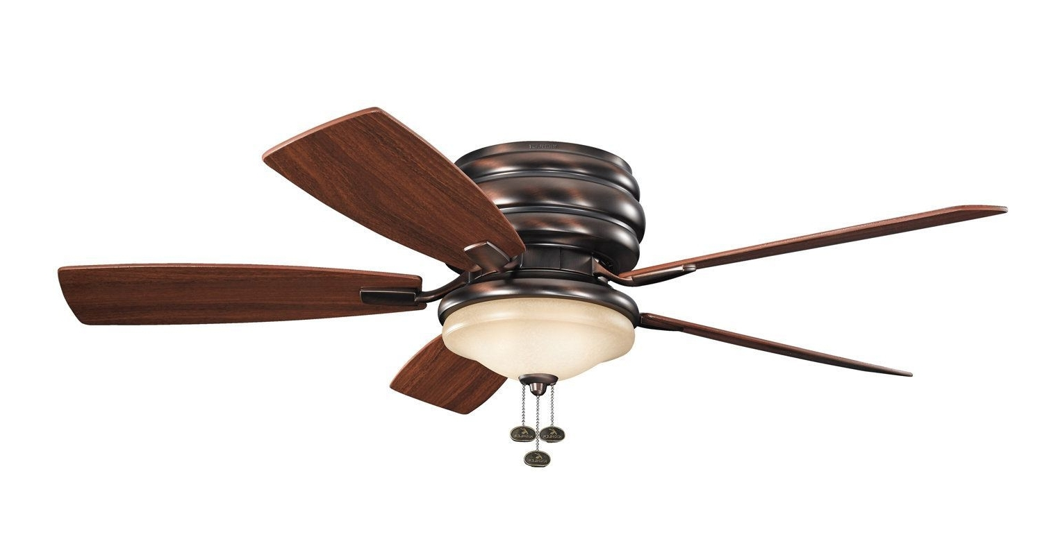 """Trendy Kichler 300119 52"""" Outdoor Ceiling Fan With Blades Light Kit And Throughout Outdoor Ceiling Fans With Pull Chain (View 4 of 20)"""