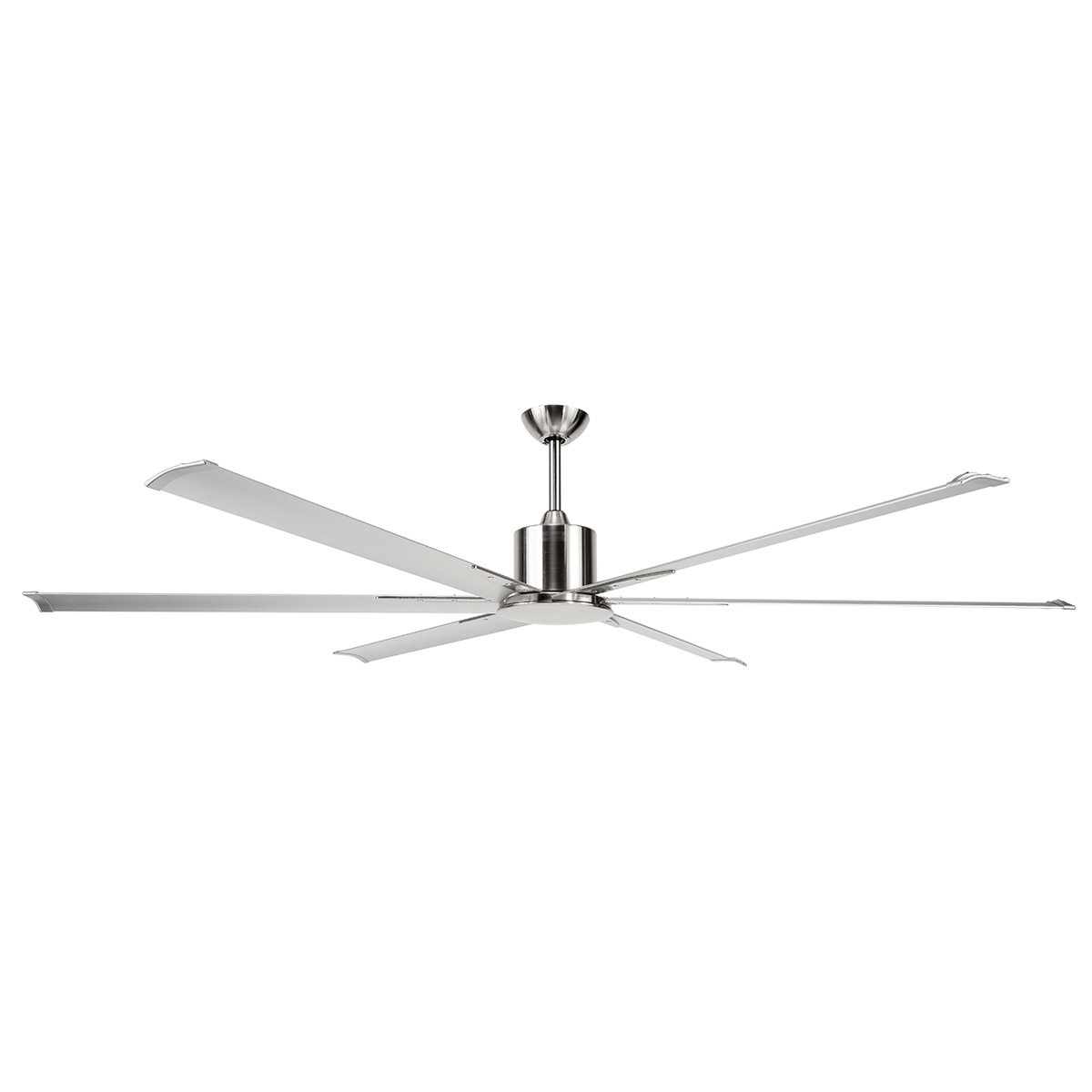 Trendy Maelstrom Ceiling Fan: Dc Motor 84″ With Remote (Satin Nickel Pertaining To Outdoor Ceiling Fans With Dc Motors (View 17 of 20)
