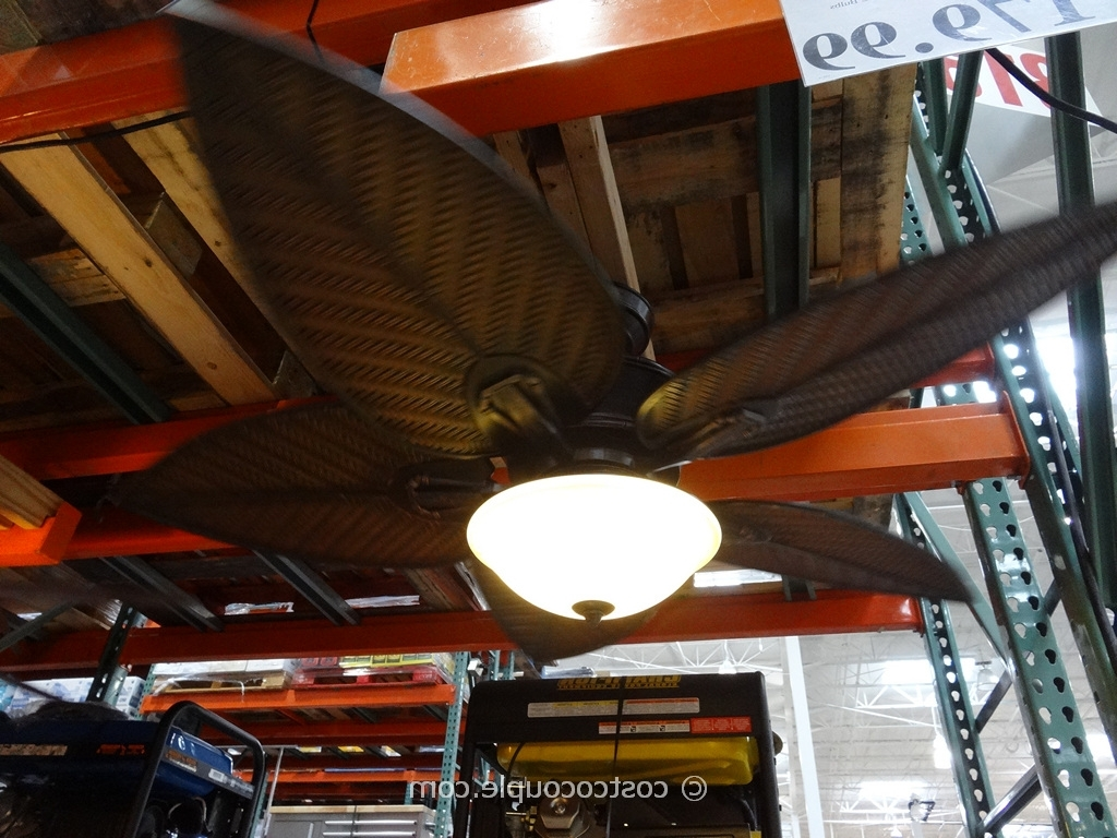 Trendy Outdoor Ceiling Fans At Costco Regarding Tommy Bahama Cabrillo Cove Ceiling Fan (View 19 of 20)