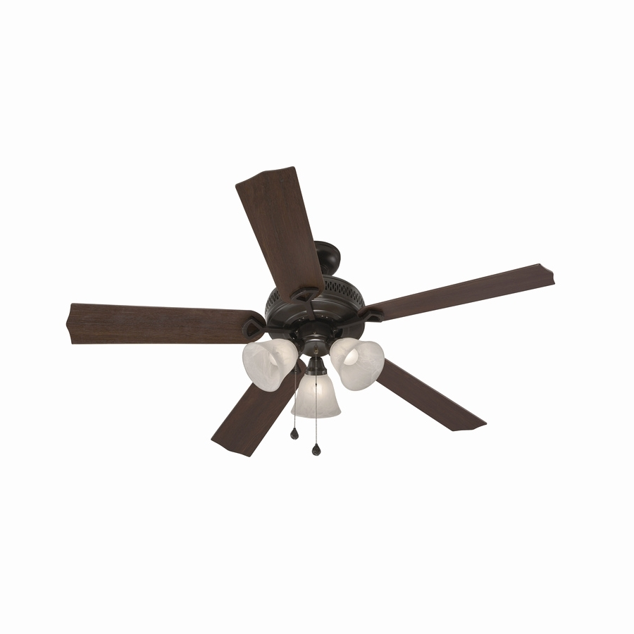 Trendy Outdoor Ceiling Fans With Long Downrod Pertaining To Outdoor Ceiling Fans With Lights Fresh Shop Harbor Breeze Barnstaple (View 19 of 20)
