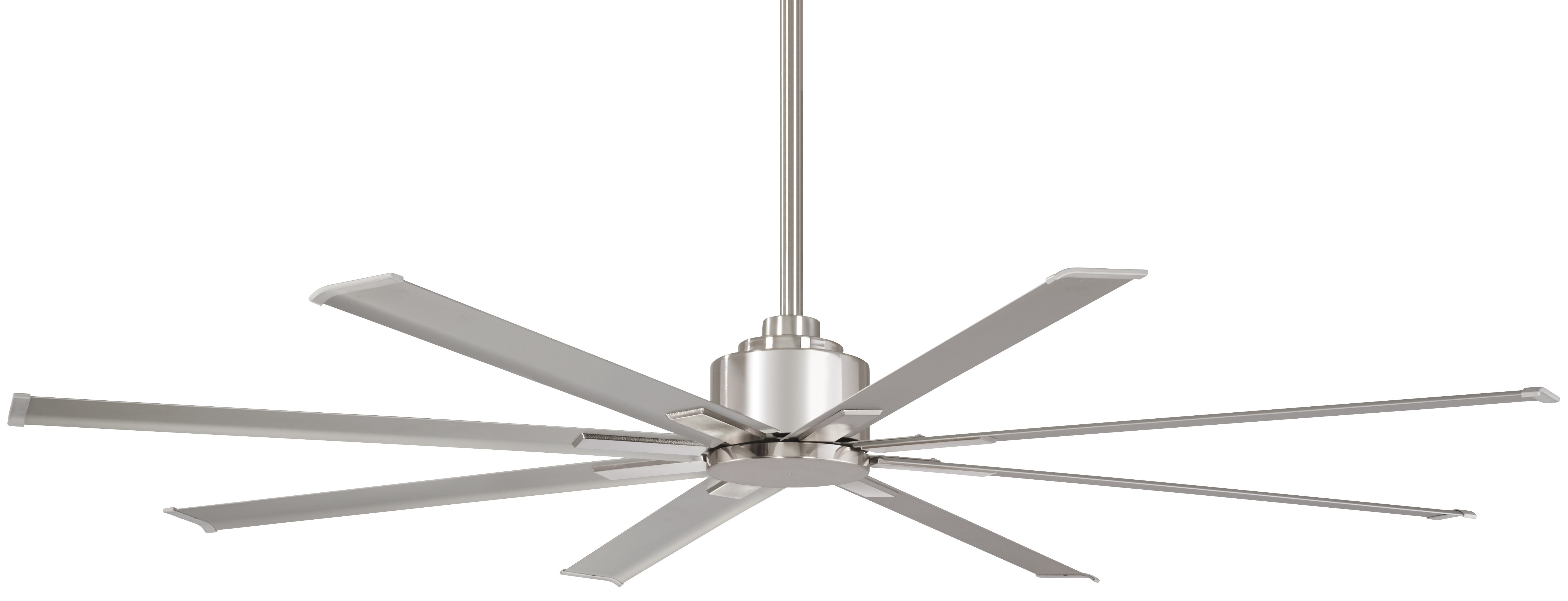 "Trendy Outdoor Ceiling Fans With Metal Blades Regarding Minka Aire 65"" Xtreme 8 Blade Outdoor Ceiling Fan With Remote (View 2 of 20)"