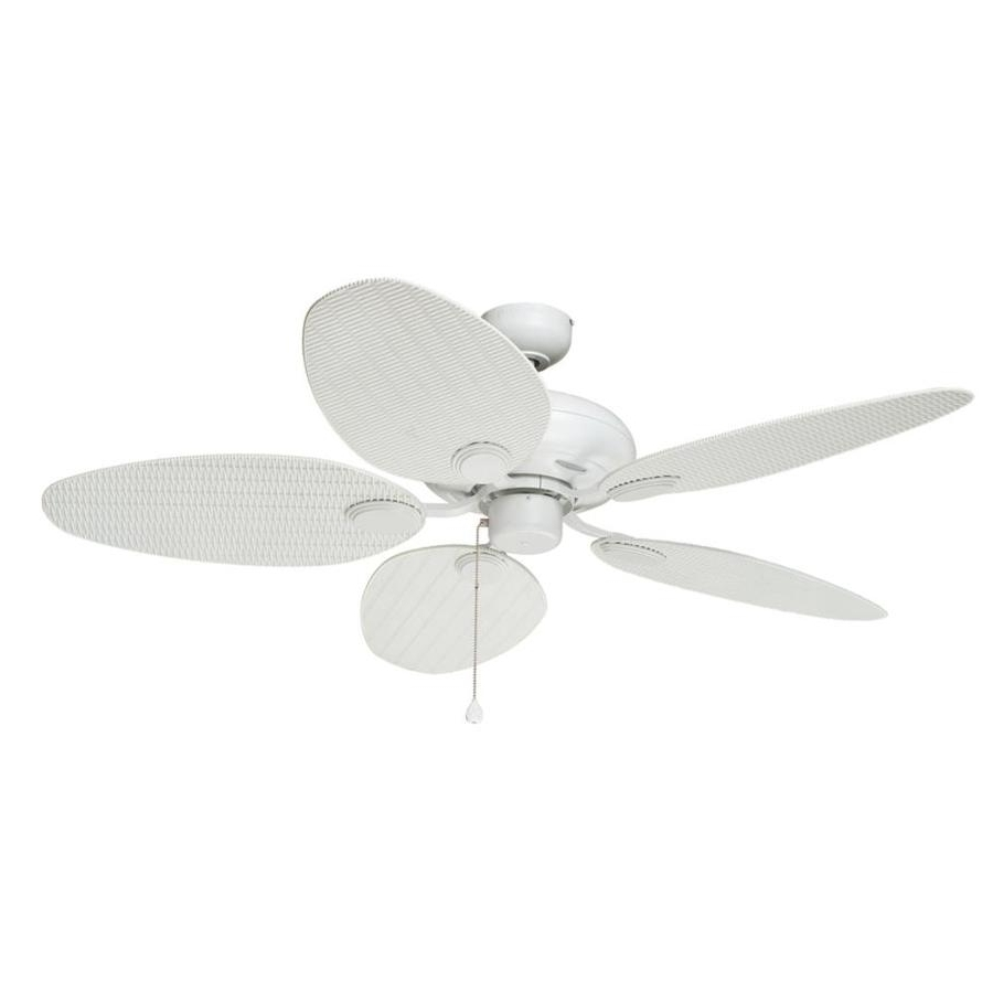 Trendy Shop Harbor Breeze Tilghman 52 In Matte White Indoor/outdoor Ceiling With White Outdoor Ceiling Fans (View 6 of 20)