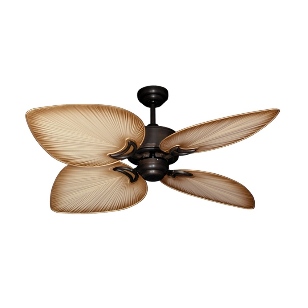 Tropical Ceiling Fans With Palm Leaf Blades, Bamboo, Rattan And More Throughout Widely Used Tropical Design Outdoor Ceiling Fans (View 13 of 20)