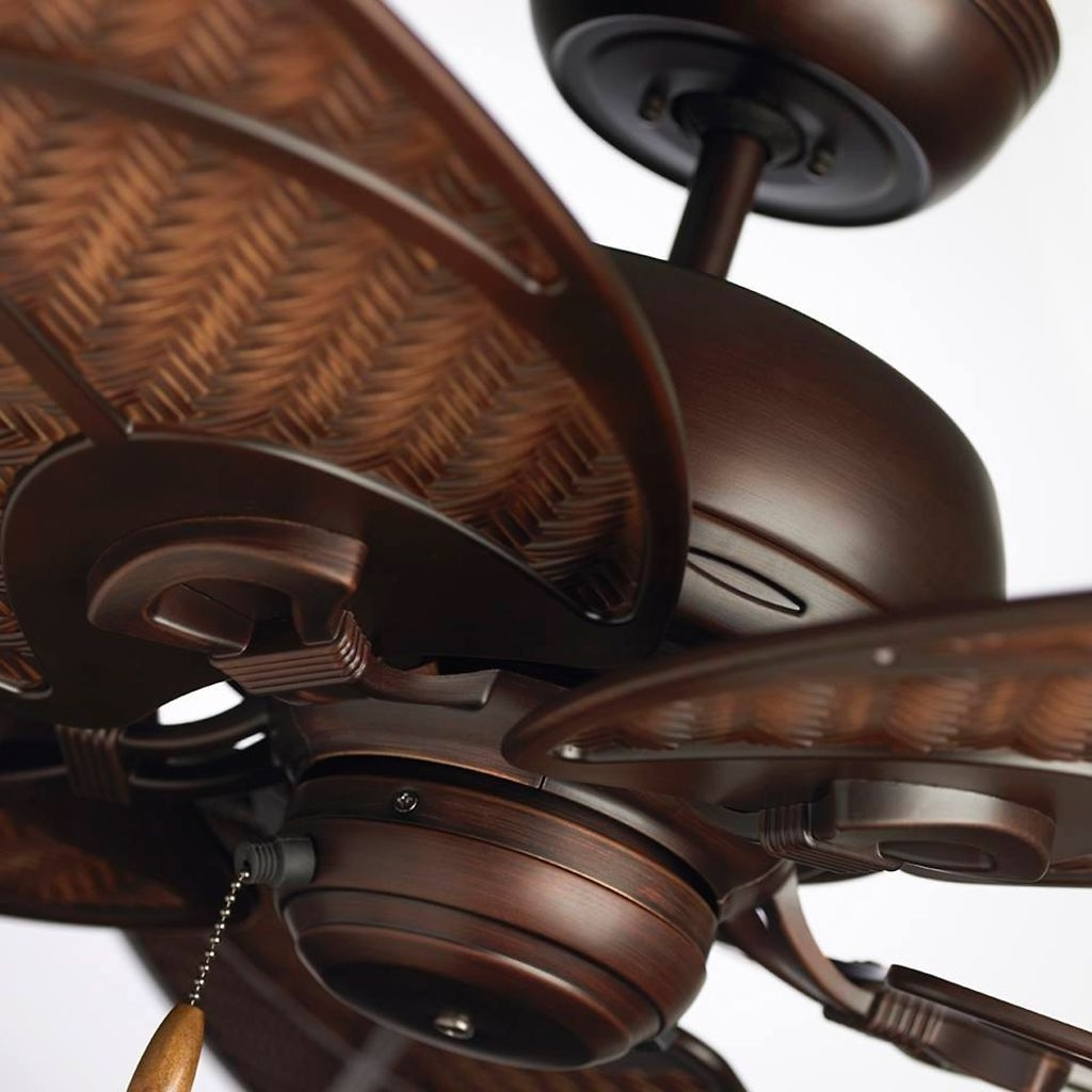 Tropical Indoor/outdoor Ceiling Fan In Bronze (View 19 of 20)