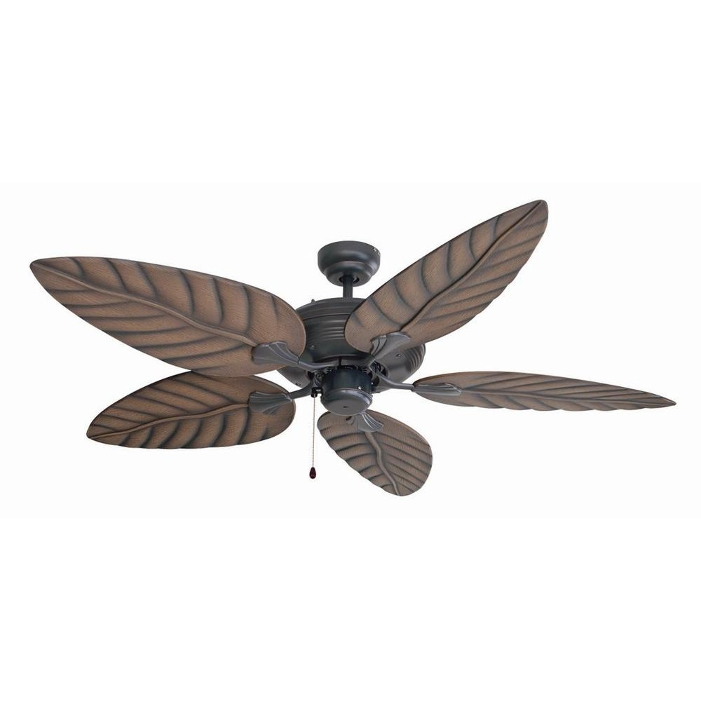 Tropical Outdoor Ceiling Fans Pertaining To Most Popular Design House Martinique 52 In (View 16 of 20)