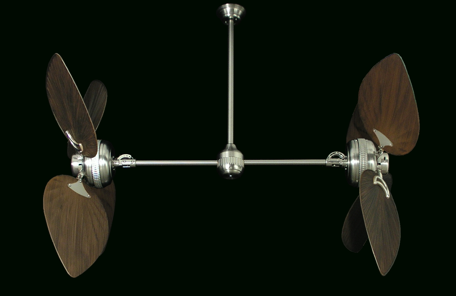 Tropical Outdoor Ceiling Fans Regarding Well Known Ceiling: Astounding Dual Outdoor Ceiling Fan White Dual Fans Ceiling (View 14 of 20)