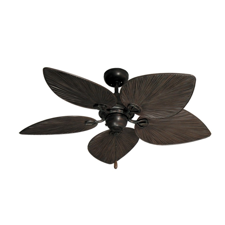 Featured Photo of Tropical Outdoor Ceiling Fans with Lights