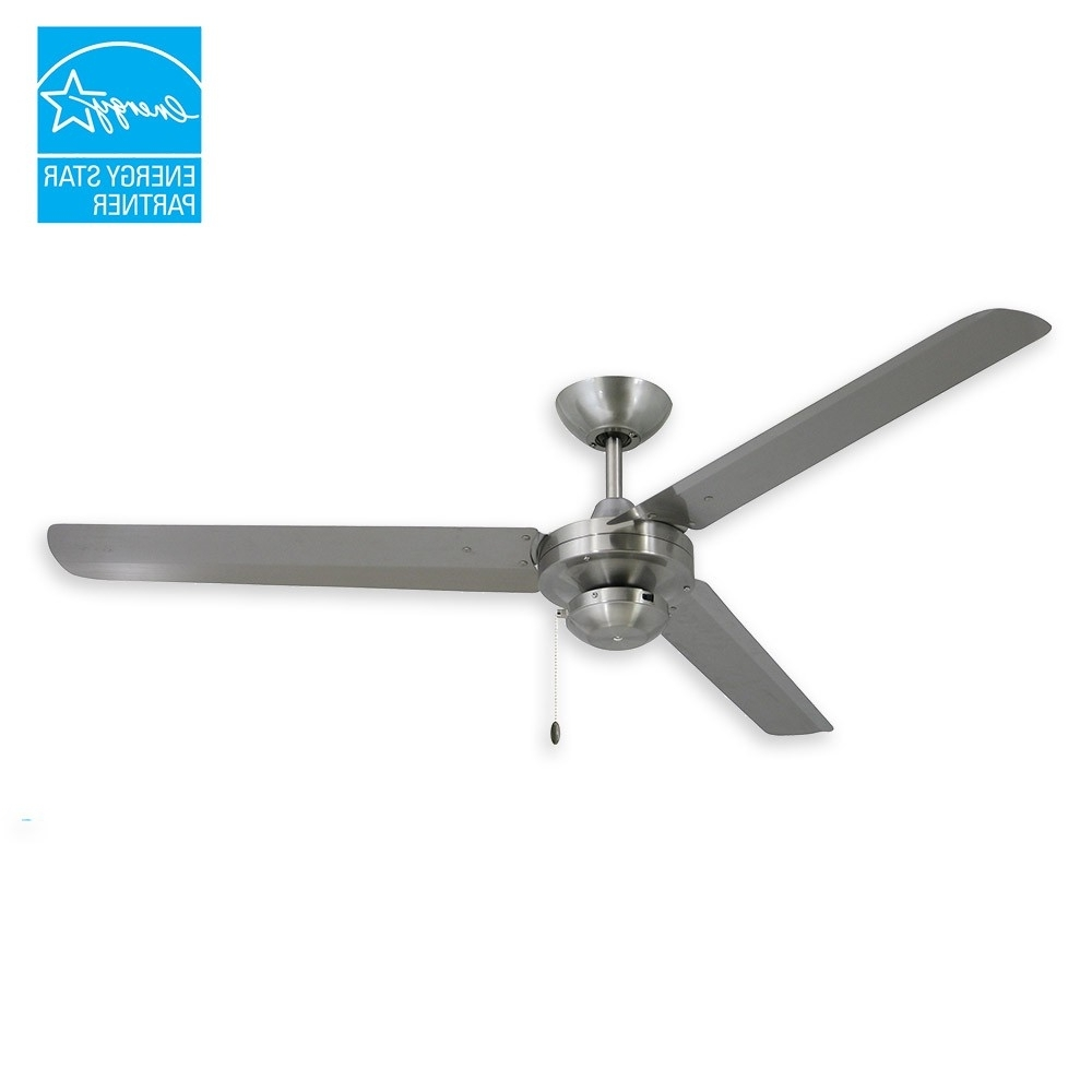 "Troposair Tornado Ceiling Fan – 56"" Stainless Steel Outdoor Fan With Regard To Well Known Outdoor Ceiling Fans With Metal Blades (View 7 of 20)"
