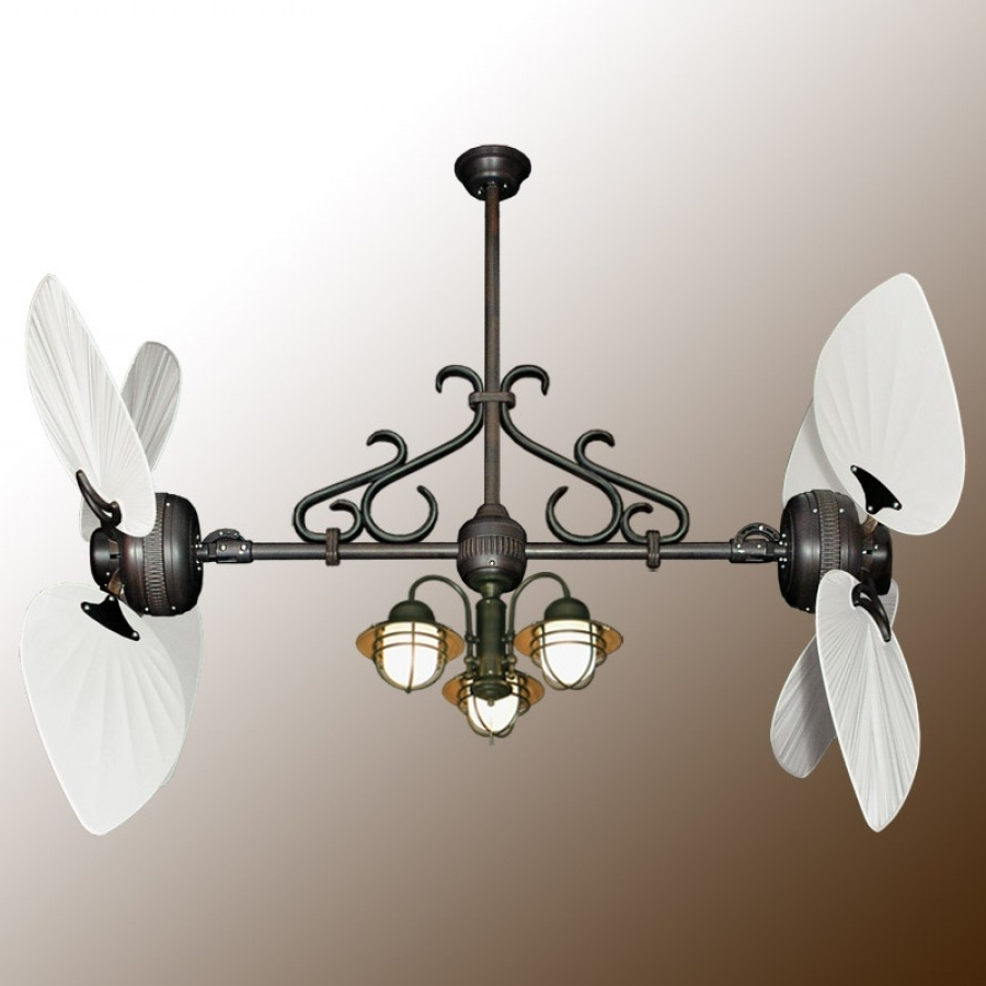 Twin Star Iii Double Ceiling Fan – Oiled Bronze With 13 Blade Options In 2019 Dual Outdoor Ceiling Fans With Lights (View 19 of 20)