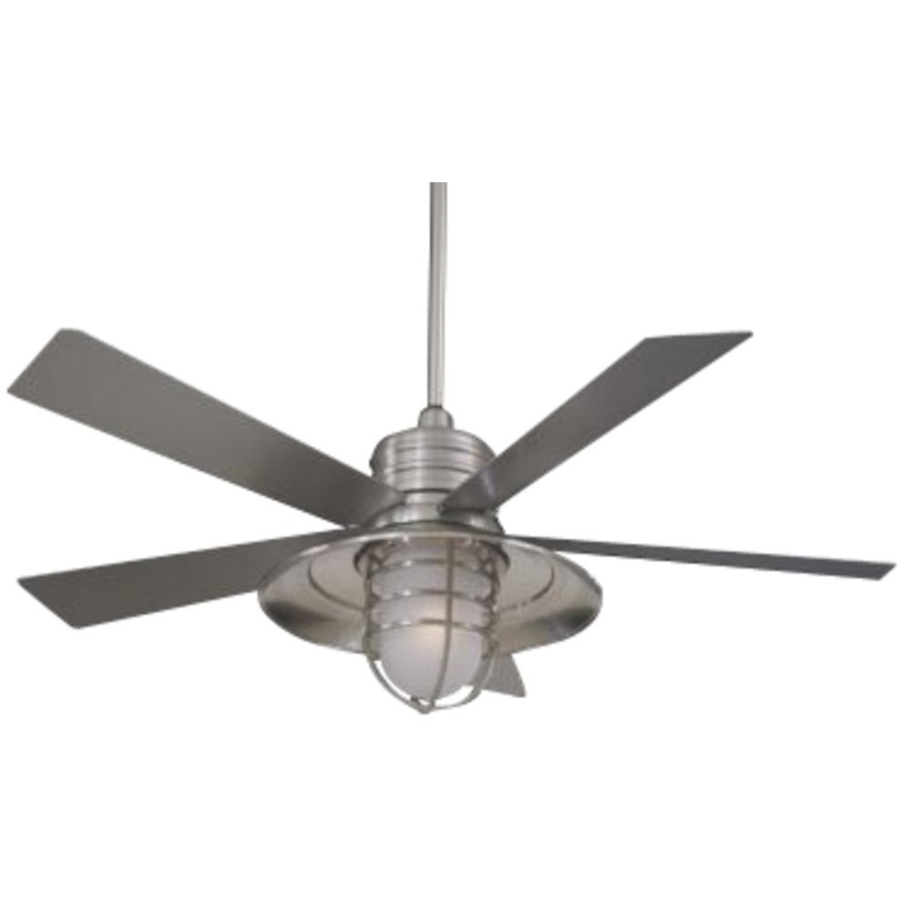 Unpara Outdoor White Ceiling Fan With Light Simple White Ceiling Fan Pertaining To Well Liked Galvanized Outdoor Ceiling Fans With Light (View 19 of 20)