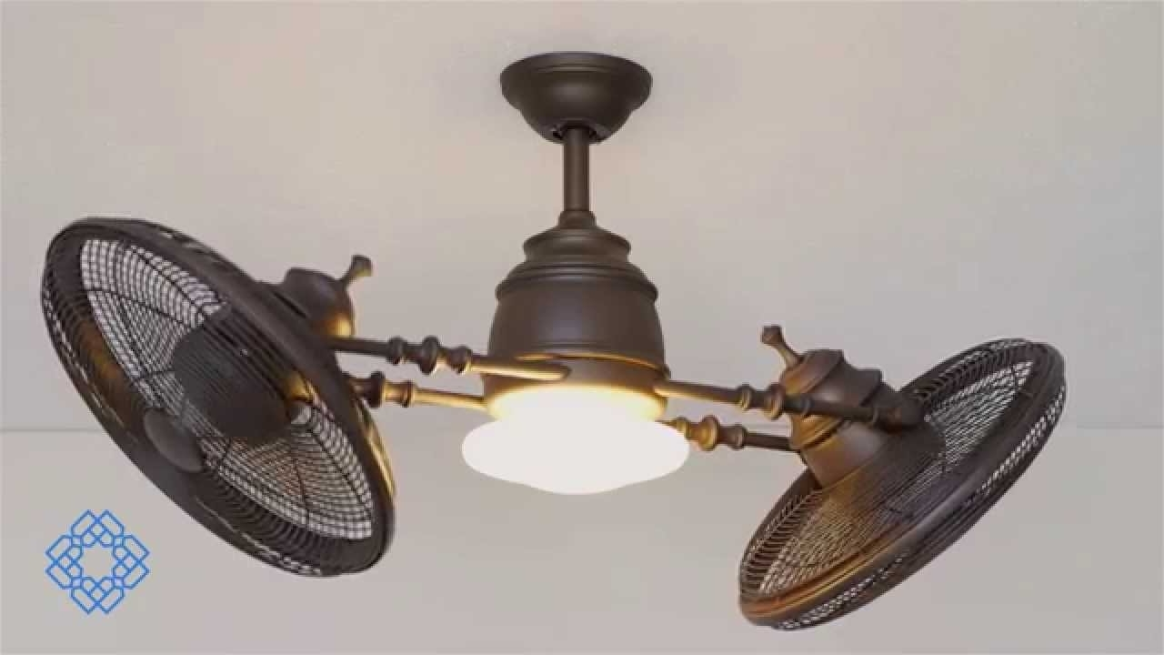 Vintage Look Outdoor Ceiling Fans Regarding Well Known Minka Aire Vintage Gyro Ceiling Fan – Bellacor – Youtube (Gallery 3 of 20)