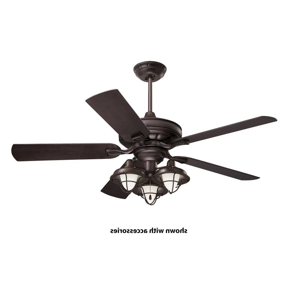Well Known Black Outdoor Ceiling Fans Pertaining To Extraordinary Black Outdoor Ceiling Fan With Light Flush Mount (View 13 of 20)