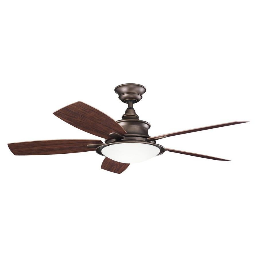 Well Known Copper Outdoor Ceiling Fans Intended For Shop Kichler Cameron 52 In Weathered Copper Indoor/outdoor Downrod (View 17 of 20)