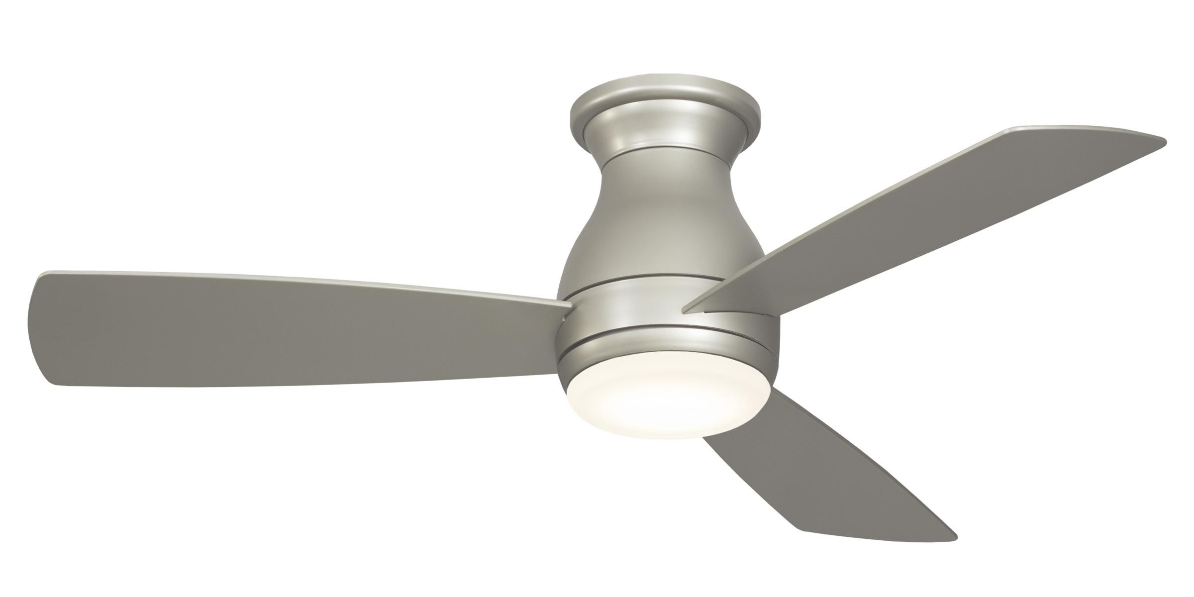Well Known Outdoor Ceiling Fans For Windy Areas Regarding Fanimation Hugh 44 Ceiling Fan Model Fps8332bnw In Brushed Nickel (View 20 of 20)
