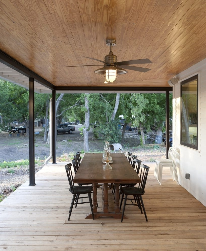 Well Known Outdoor Patio Ceiling Fans With Lights Within Outdoor Patio Ceiling Fans Patio Traditional With Wood (View 4 of 20)