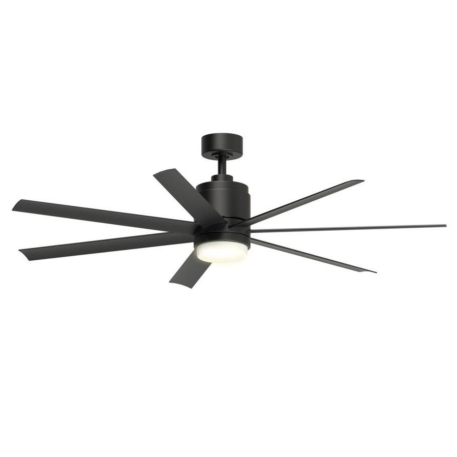 "Well Known Outdoor Windmill Ceiling Fans With Light For Damp Outdoor/indoor 56"" Large Patio Ceiling Fan + Remote Industrial (View 15 of 20)"