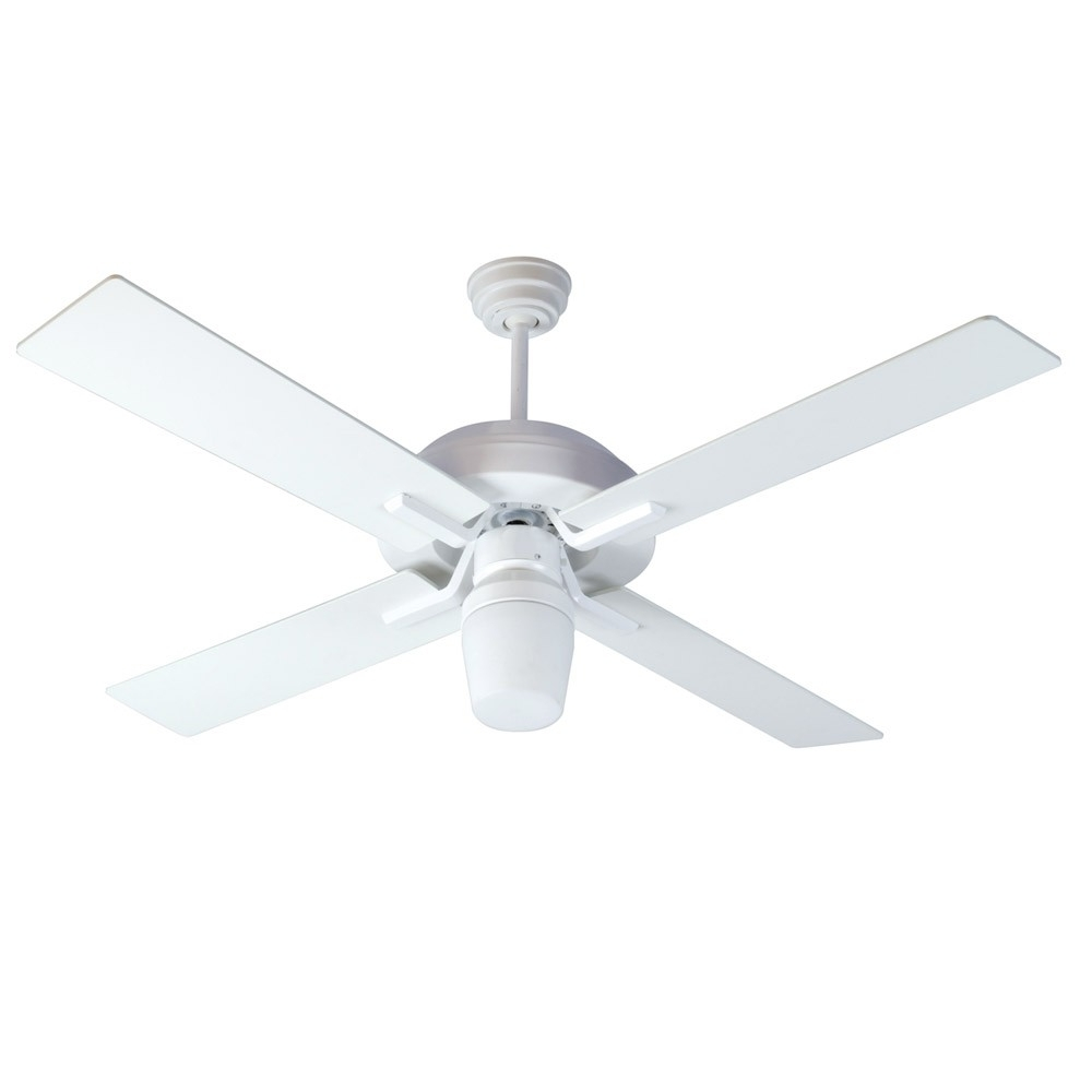 Well Known Wet Rated Outdoor Ceiling Fans With Light Inside South Beach Ceiling Fancraftmade Fans Sb52w4 – 52 Inch Wet Rated (View 19 of 20)