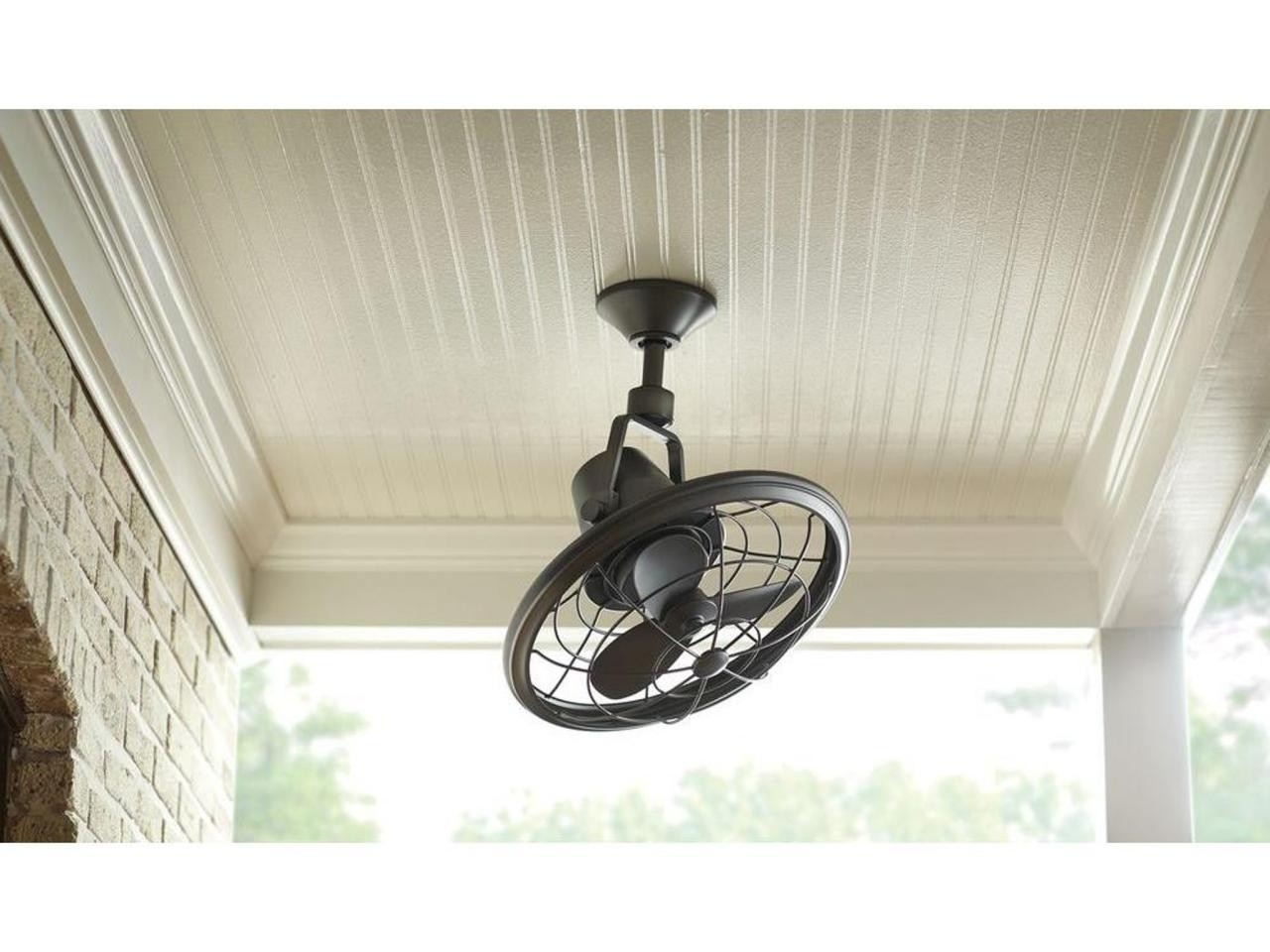Well Known White Porch Ceiling With Oscillating Ceiling Fan A Vintage Style Within Vintage Look Outdoor Ceiling Fans (View 18 of 20)